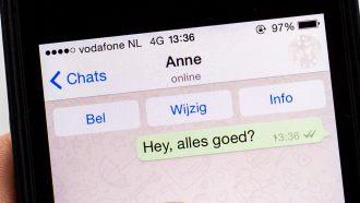 WhatsApp op een telefoon